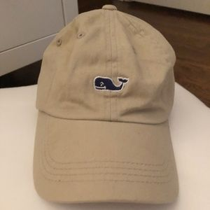 Vinyard Vines Beige Whale Logo Baseball Hat